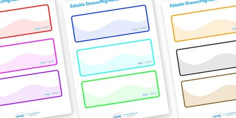 Editable Blank Label Templates