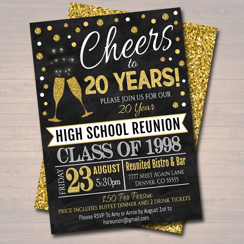 Editable Class Reunion Invitation Template