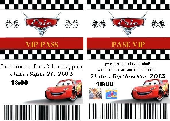 Editable Disney Cars Birthday Invitation Template Free