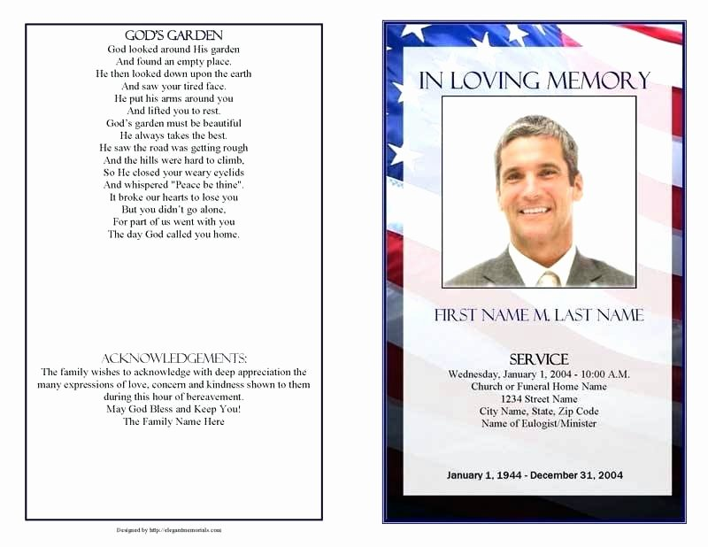 Editable Downloadable Editable Funeral Program Template