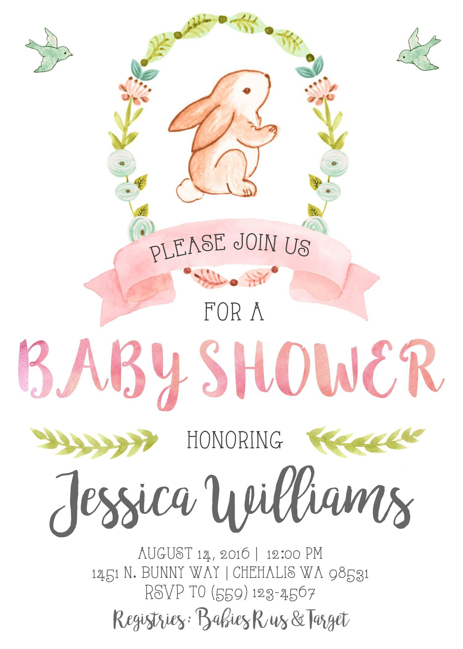 Editable Free Baby Shower Invitation Templates For Word