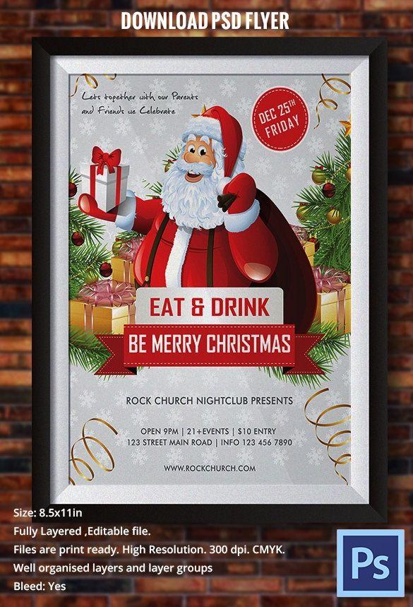 Editable Free Christmas Flyer Templates