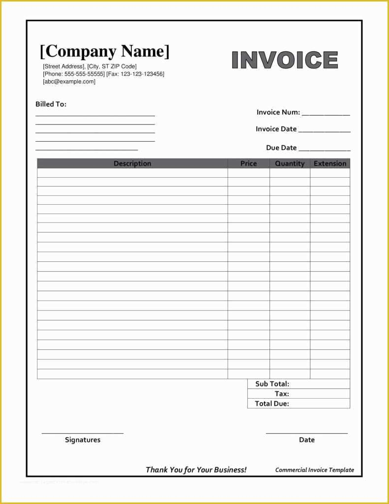 Free Printable Invoice Templates Of Downloadable Invoice Template Beautiful Printable Invoices