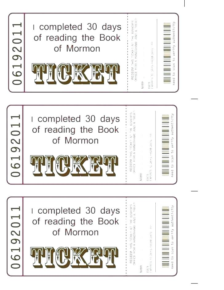 Editable Numbered Tickets Template
