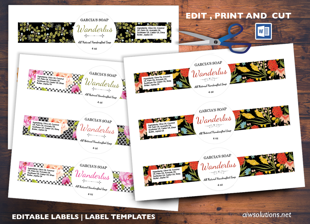 Editable Sticker Label Template