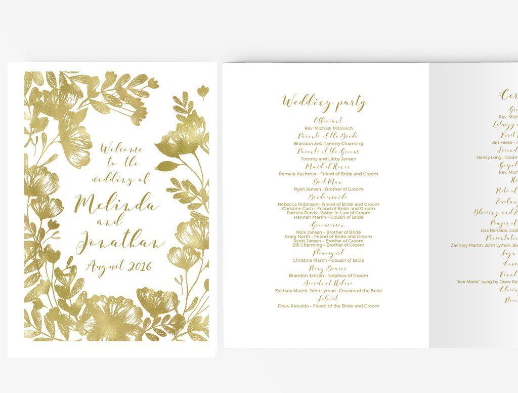 Editable Wedding Program Template Word
