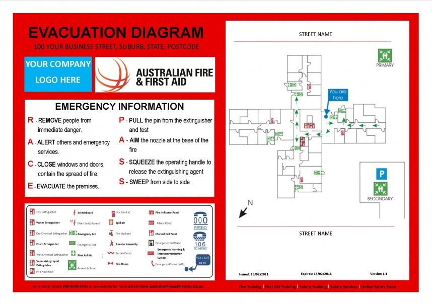 Emergency Evacuation Map Template Free