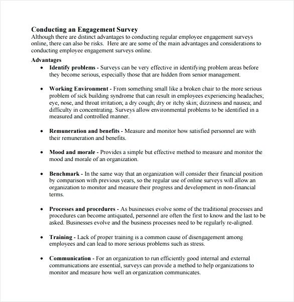 Employee Engagement Survey Email Template