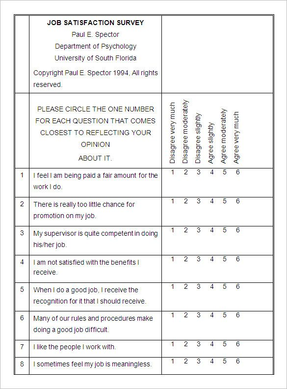 Employee Satisfaction Survey Templates