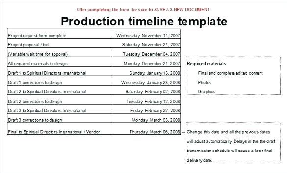 Event Planning Event Production Schedule Template