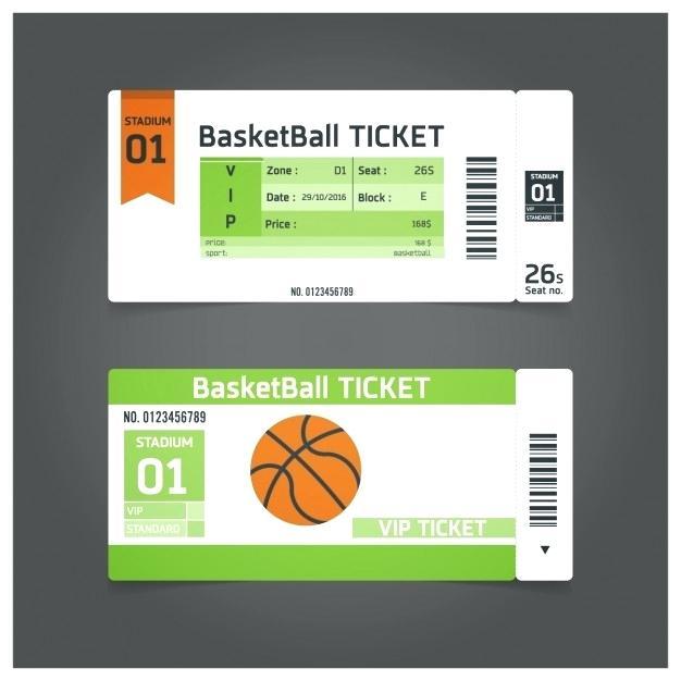 Fake Basketball Ticket Template