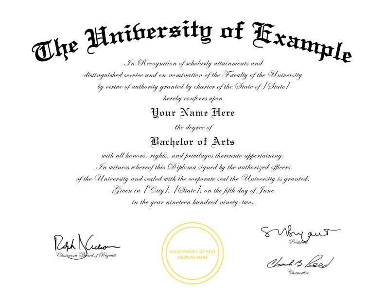 Fake College Diploma Template Free