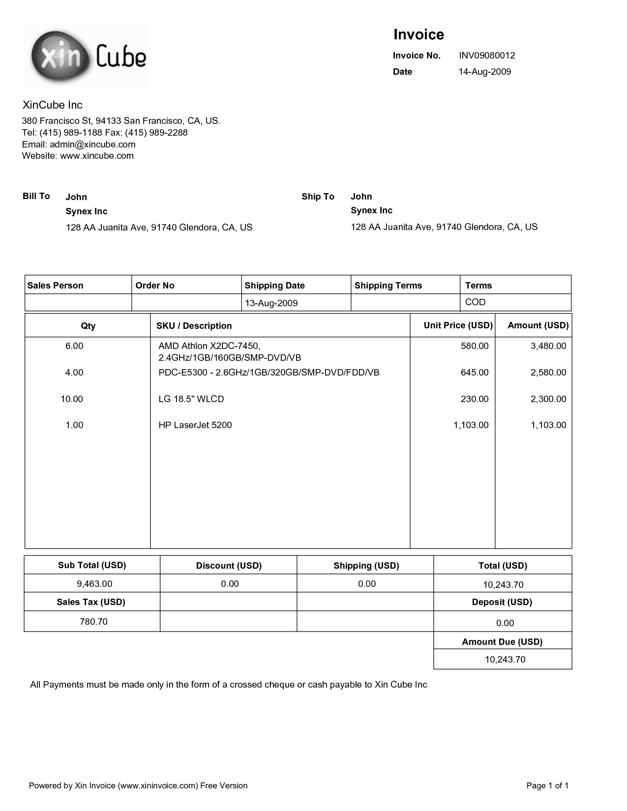 Fake Hospital Bill Template
