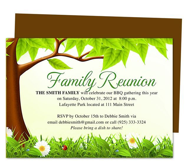 Family Reunion Invitations Templates