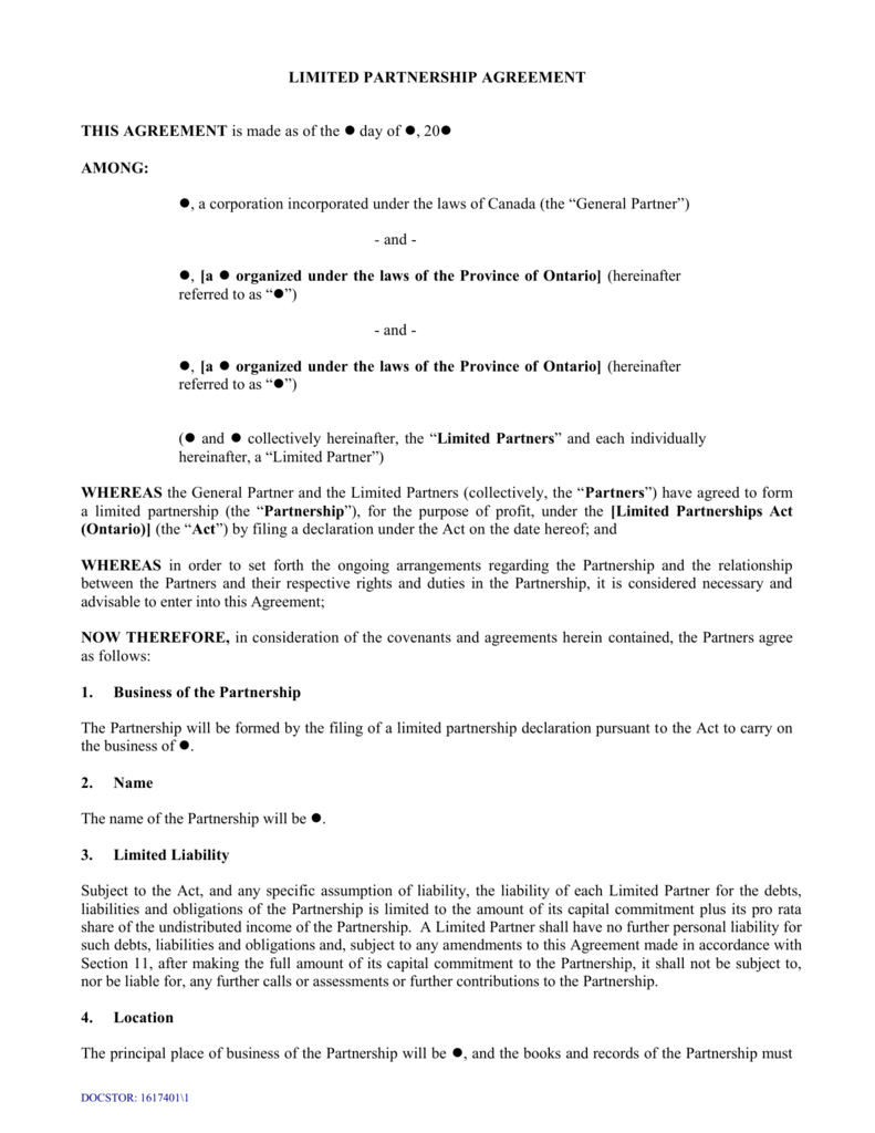 Farming Partnership Agreement Template Uk