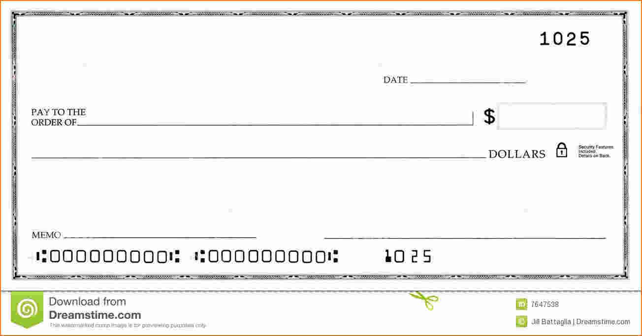 Fillable Check Template Word