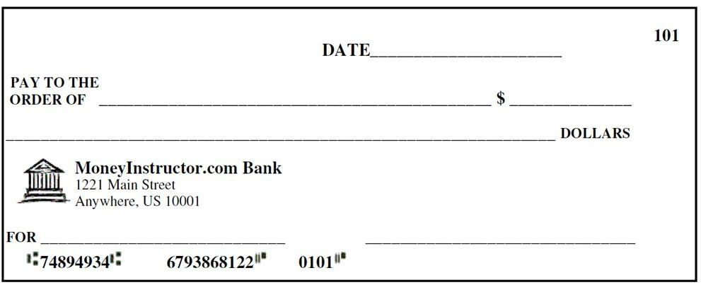 Fillable Fake Check Template