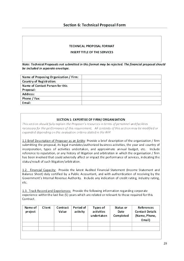 Financial Proposal Template Doc
