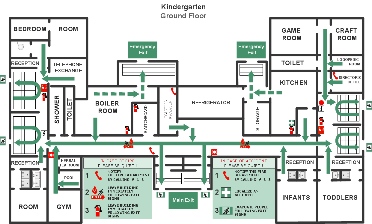 Fire Exit Plan Template