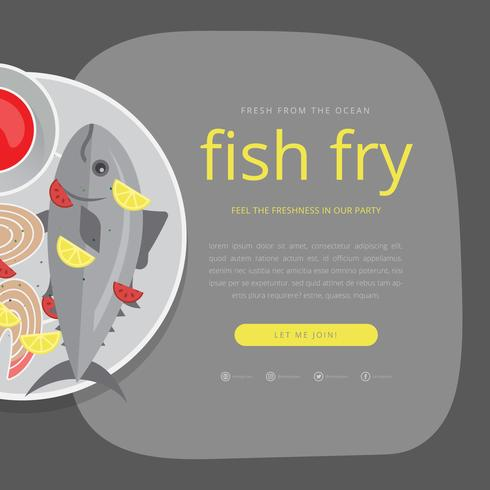 Fish Fry Invitation Template