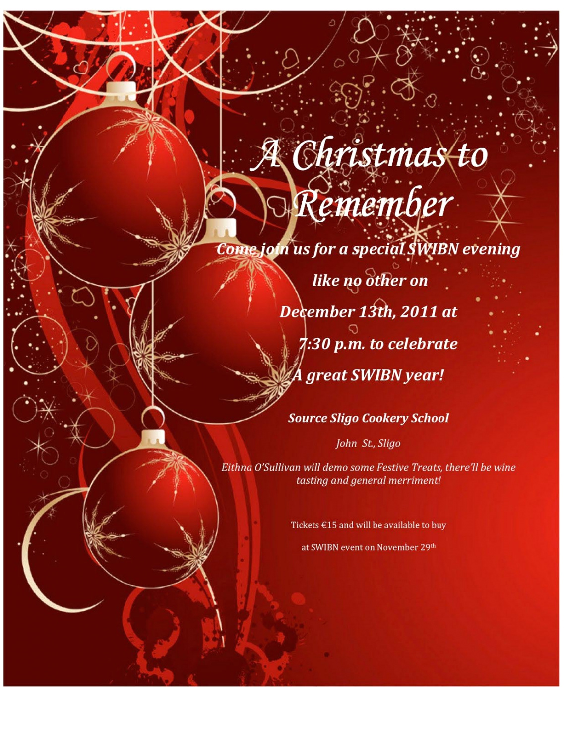 Flyer Free Christmas Invitation Templates Word