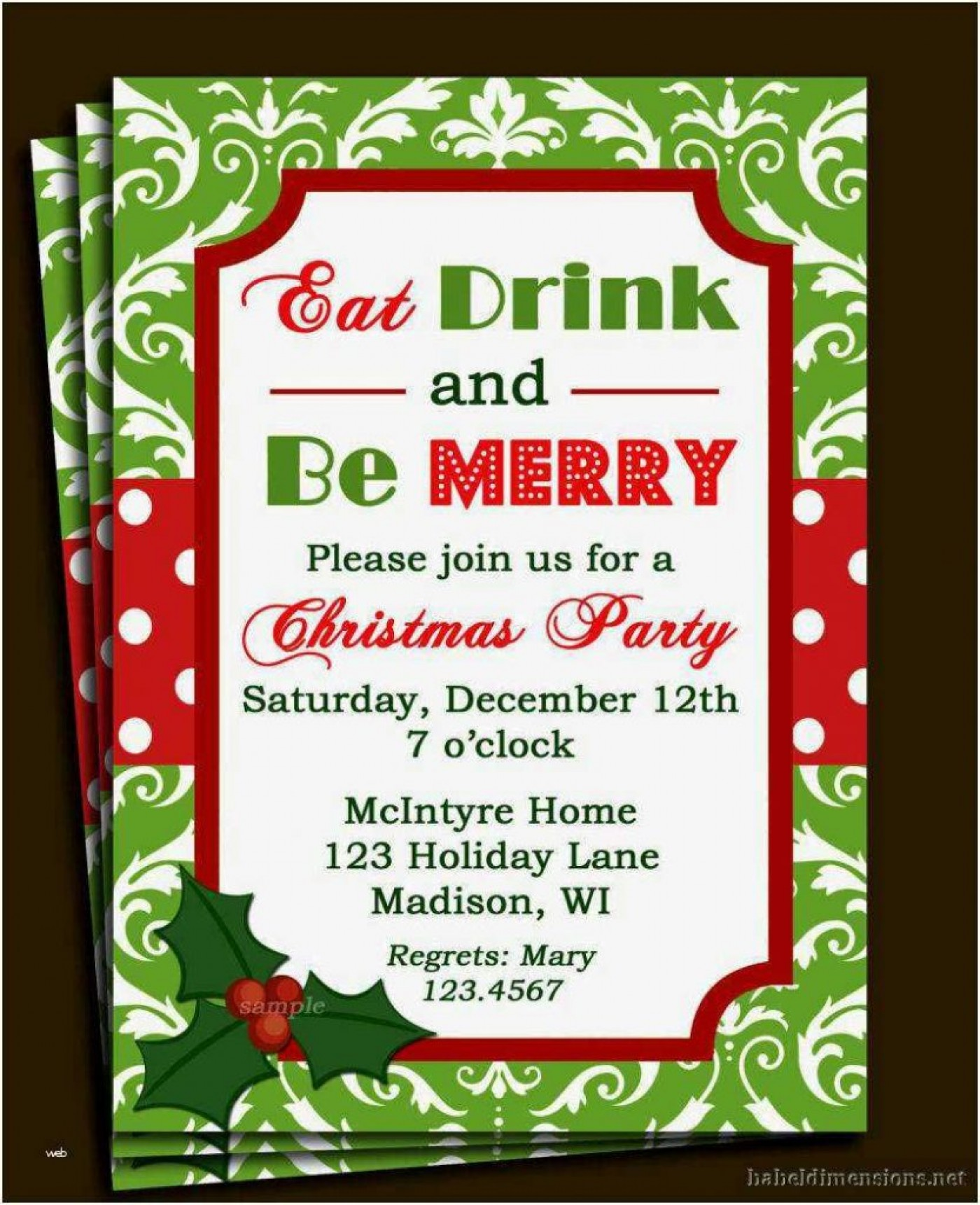 Formal Invitation Templates Christmas Invitation Ideas