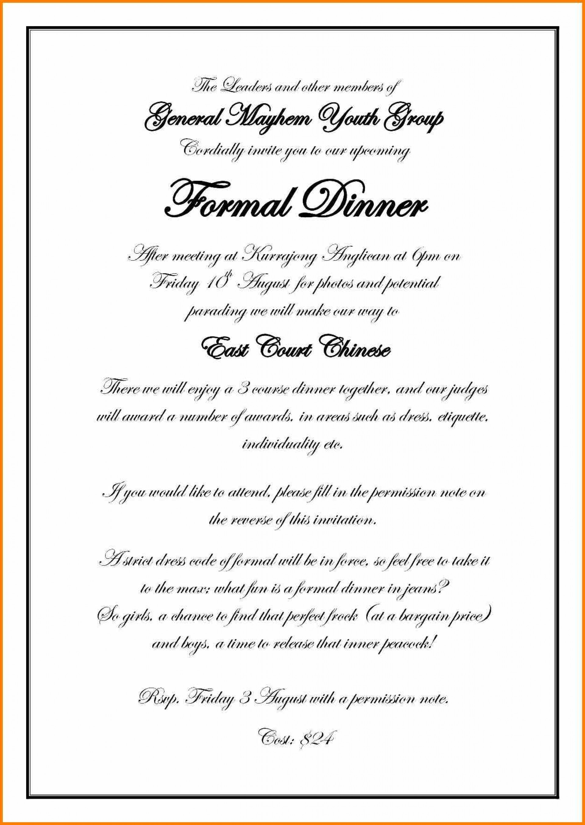 Formal Invitation Templates Free Download