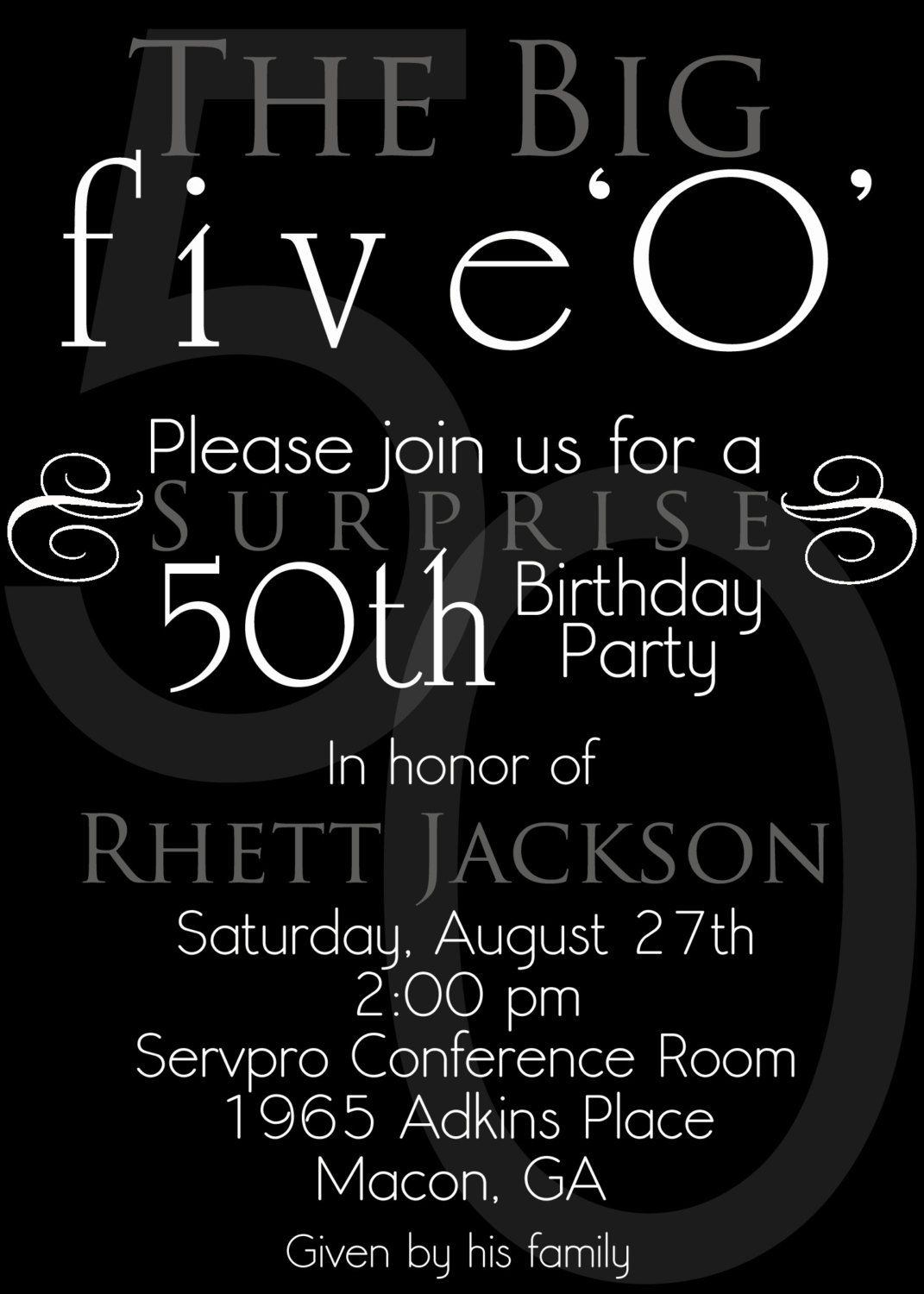 Free 50th Birthday Party Invitation Templates