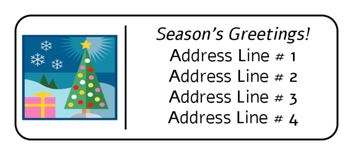 Free Christmas Return Address Label Templates 30 Per Sheet