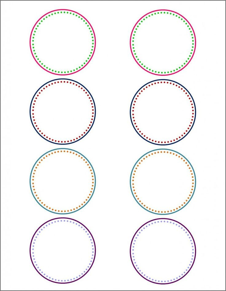 Free Printable Sticker Template Awesome Circle Label Template