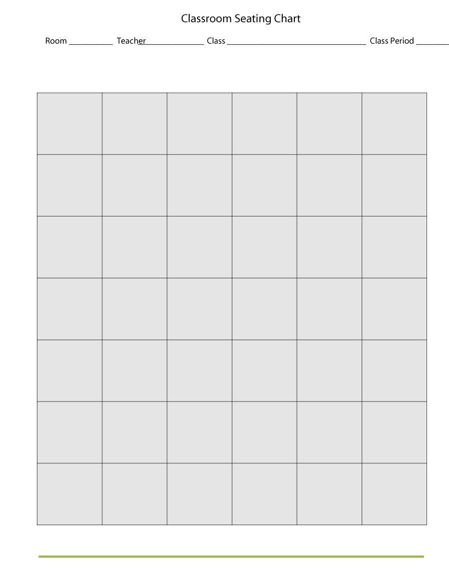 Free Classroom Seating Chart Template Microsoft Word
