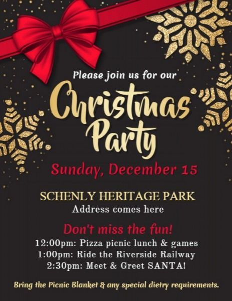Free Editable Christmas Party Flyer Templates