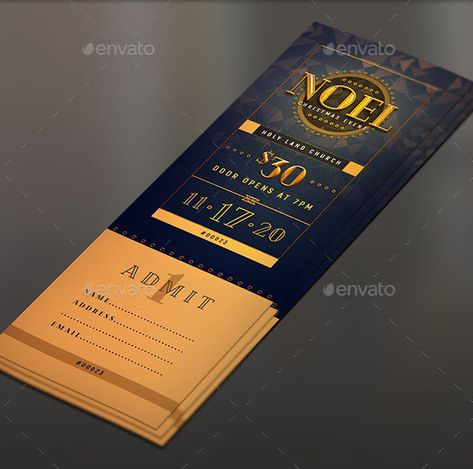 Free Gala Ticket Template