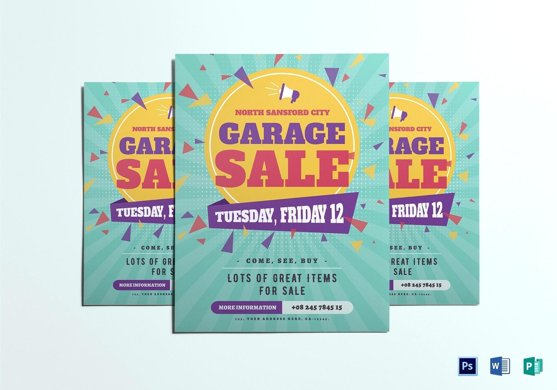 Free Garage Sale Flyer Template Microsoft Word