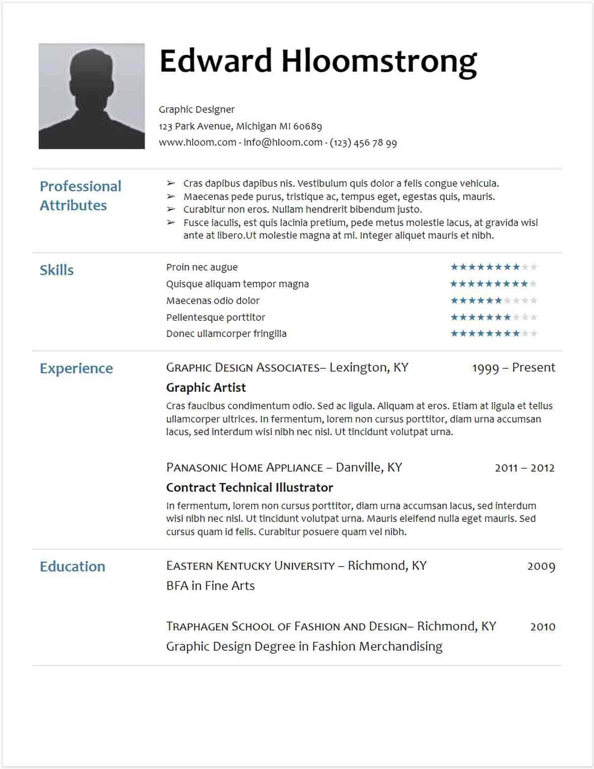 Free High School Resume Template Google Docs