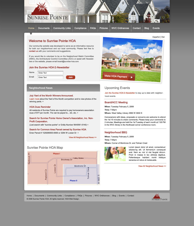 Free Hoa Website Templates