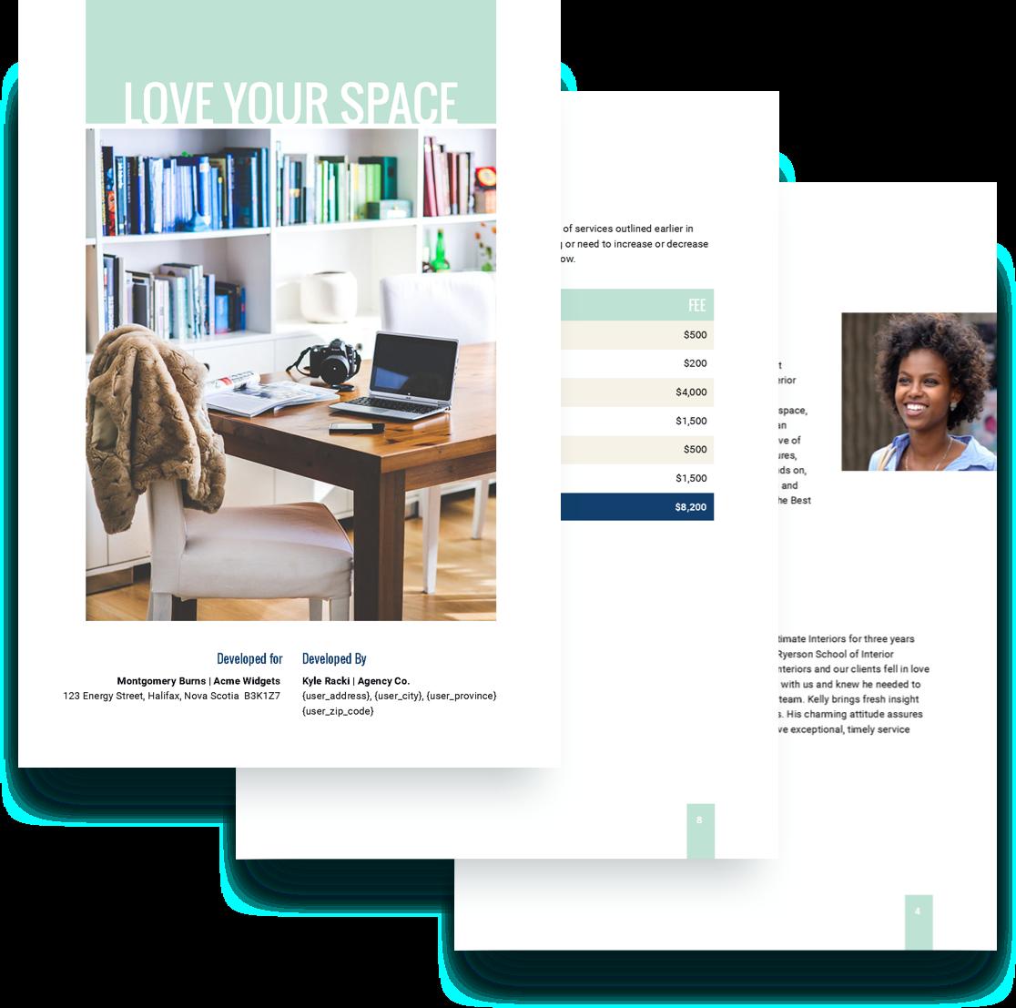 Free Interior Design Proposal Template