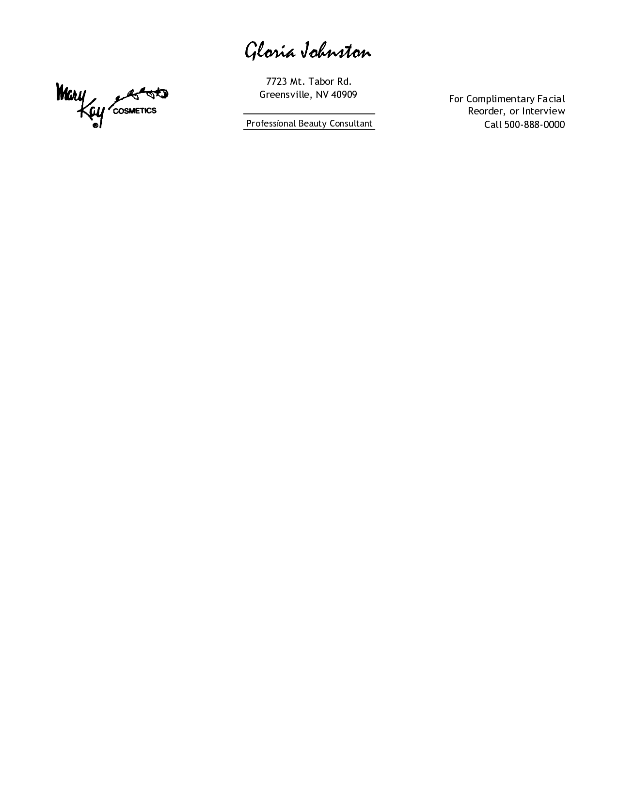 Free Personal Letterhead Templates Word Download