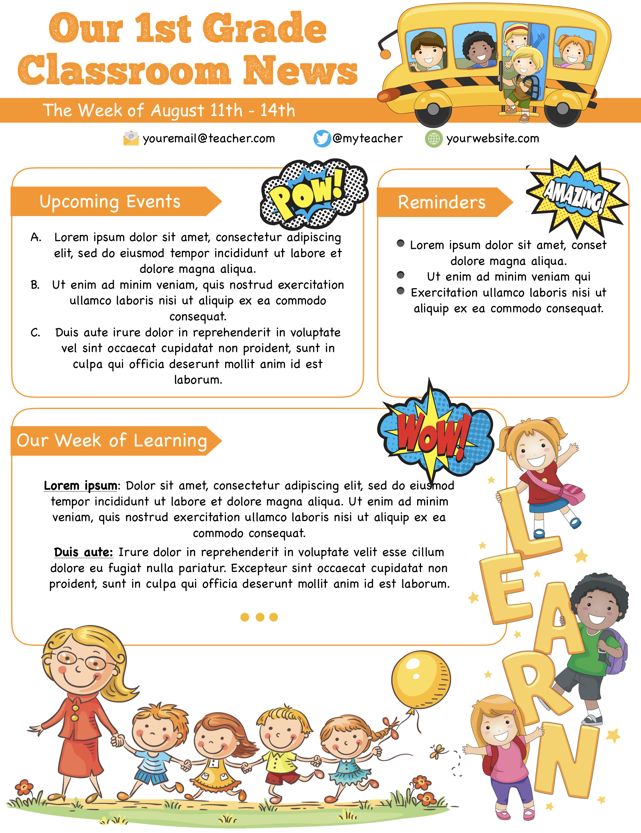 Free Preschool Newsletter Template Microsoft Word