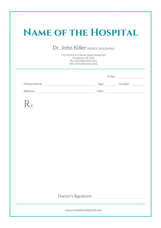 Free Prescription Pad Template Pdf