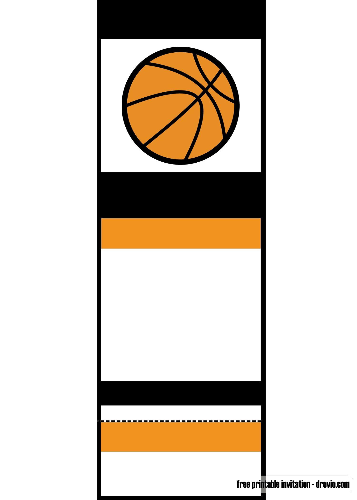 Free Printable Basketball Ticket Template