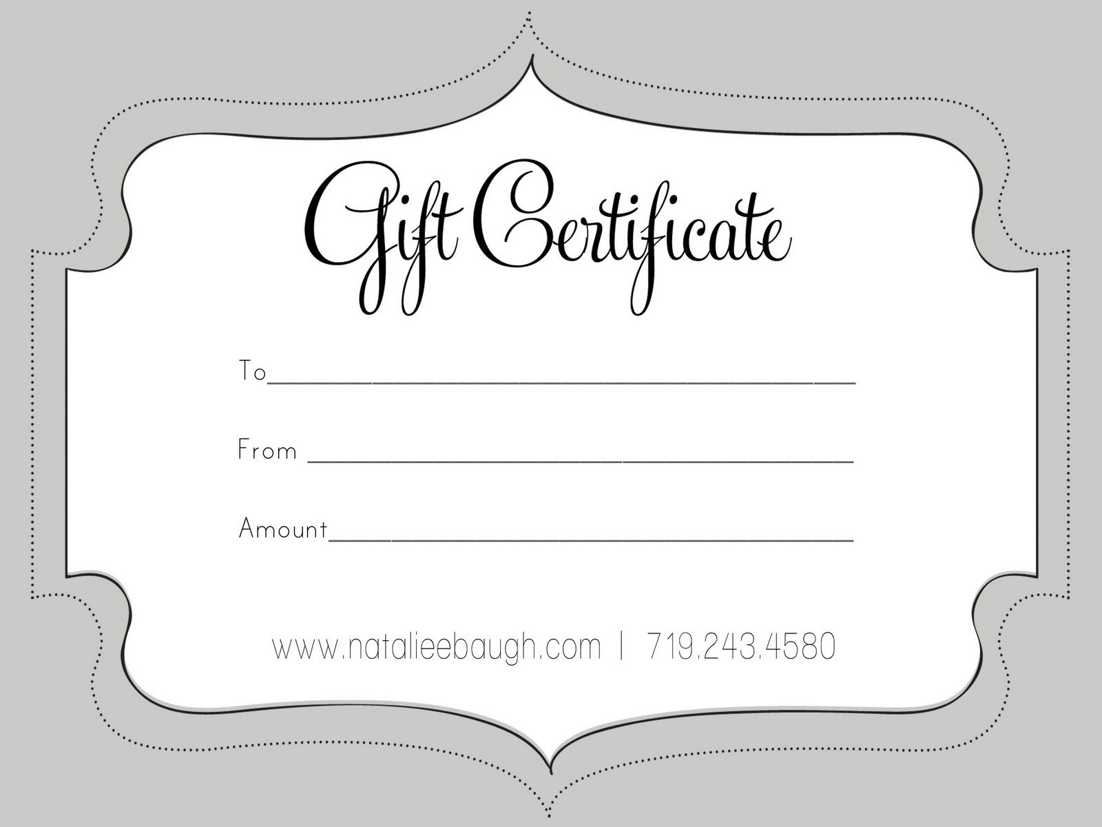 Free Printable Business Gift Certificate Templates