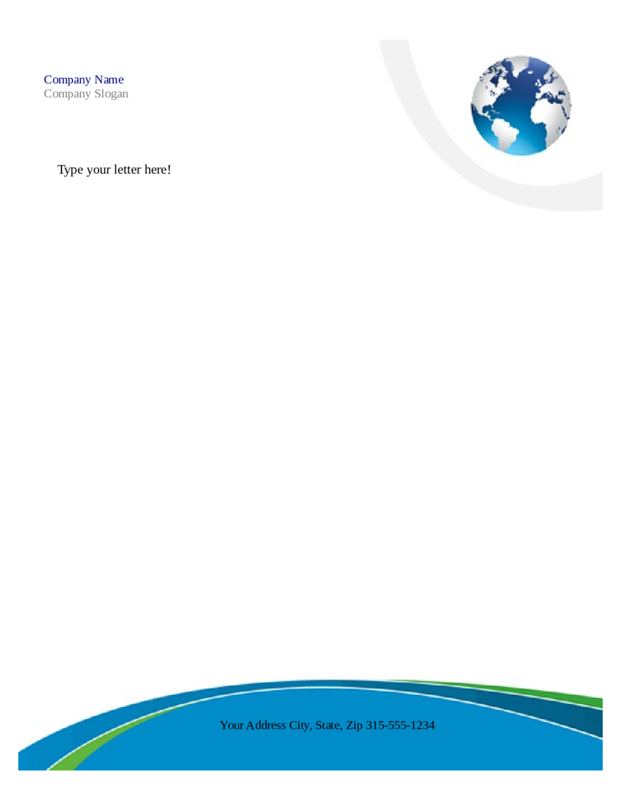 Free Printable Business Letterhead Templates