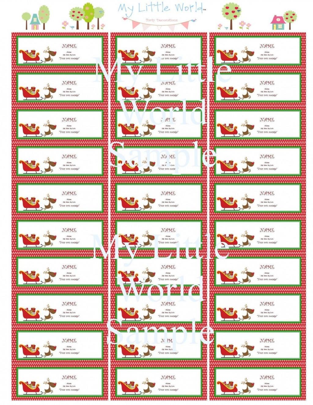 Free Printable Christmas Return Address Label Templates