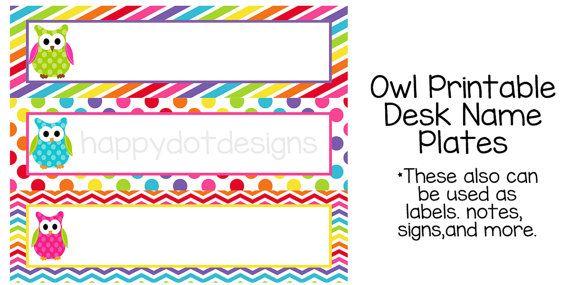 Free Printable Desk Name Plate Template