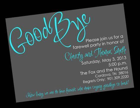 Free Printable Farewell Invitation Templates