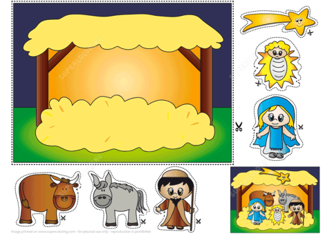 Free Printable Nativity Scene Templates