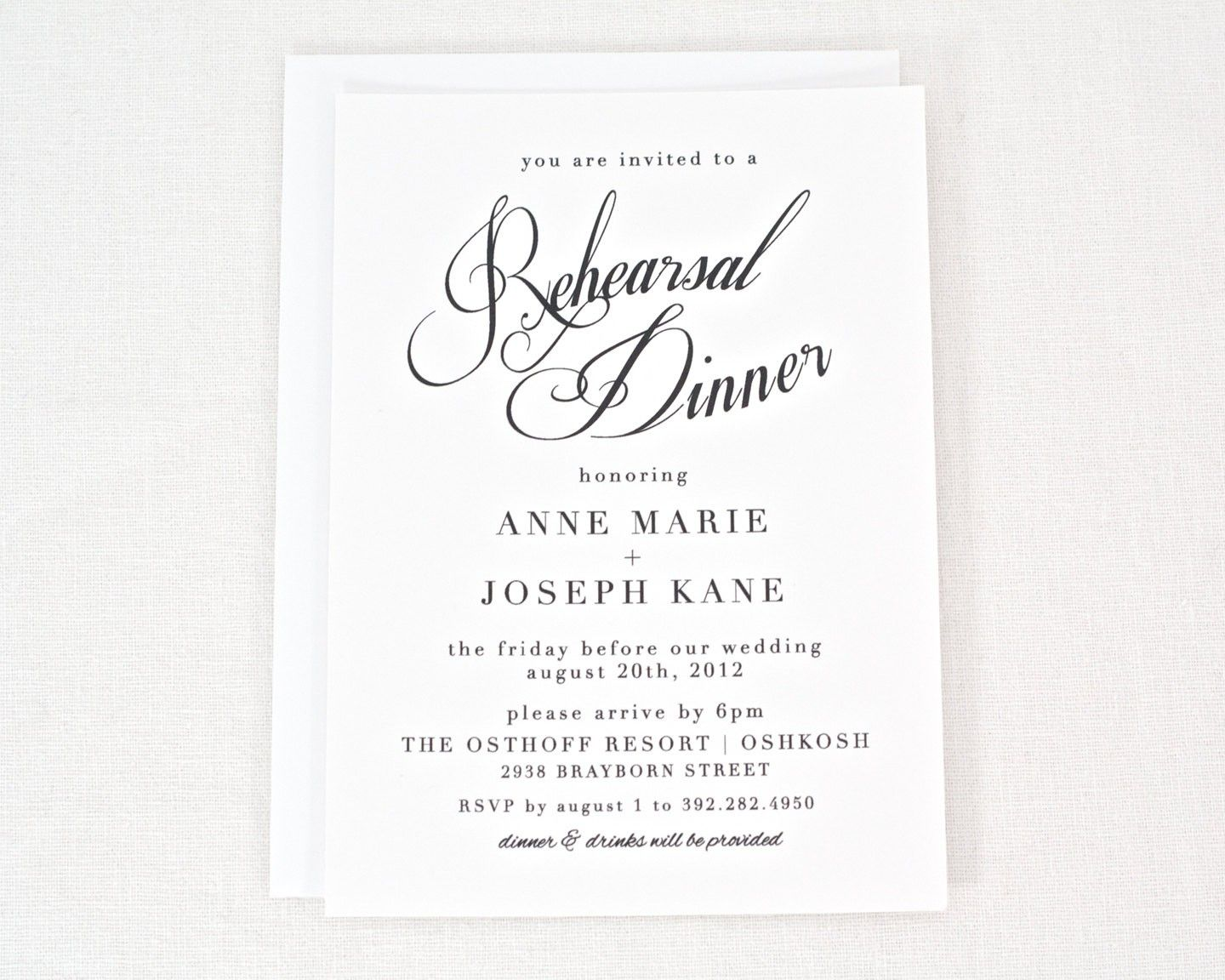 Free Printable Rehearsal Dinner Invitation Templates