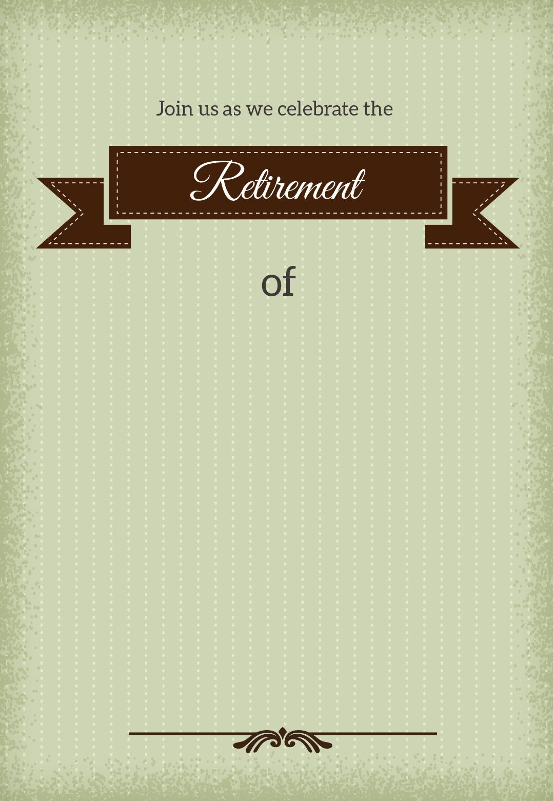 Free Printable Retirement Banner Template