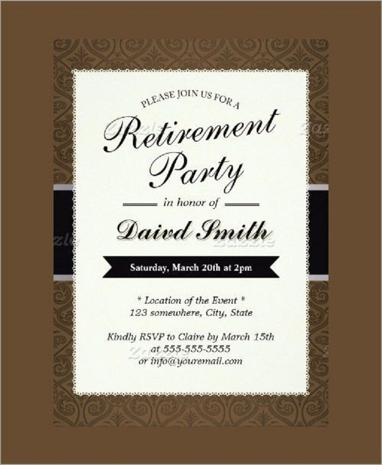 Free Printable Retirement Party Invite Template